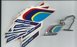 Peugeot Talbot Sport, Rare Porte Cle Et Adhésifs. - Autres