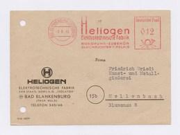 DDR AFS - BAD BLANKENBURG, Heliogen Elektrotechnische Fabrik -12Pfg- 1949 Auf Firmenkarte - DDR