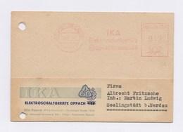 DDR AFS - OPPACH, IKA Elektroschaltgeräte 21.2.52 Auf Firmenkarte - DDR