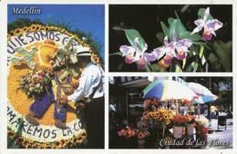 Lote PEP1063, Colombia, Postal, Postcard, Medellin, Ciudad De Las Flores, Orchid - Colombia