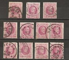 Belgique 1922/7 - Albert Houyoux - Cob 200 - Petit Lot De 11° - Geldenaken - Iseghem - Jumet - Nechin - Scherpenheuvel - 1922-1927 Houyoux