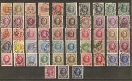 Belgique 1922/9 - Albert Ier - Type Houyoux - Petit Lot De 53° - 29 Différents - Avec Surcharges Et Nuances - Timbres