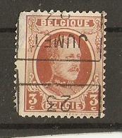 Belgique 1923 - Albert Houyoux 192 - Surcharge Jumet 1923 Horizontale à L'envers - Préoblitérés