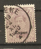 Belgique 1920 - Albert Houyoux 140 Surchargé Eupen - Oc90 - Oblitéré - [OC55/105] Eupen/Malmédy