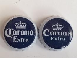 Lote 2 Chapas Kronkorken Caps Tappi Cerveza Corona. Méjico - Beer