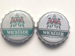 Lote 2 Chapas Kronkorken Caps Tappi Cerveza Wickuler. Alemania - Beer