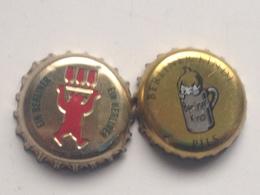 Lote 2 Chapas Kronkorken Caps Tappi Cerveza Berliner. Berlín. Alemania - Beer