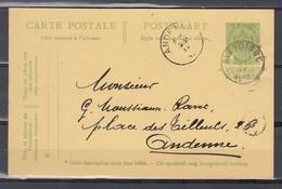 Nr 83 Op Postkaart Gestempeld Van Sleydinge Naar Andenne - 22 Sept 1912 - 1893-1907 Armarios