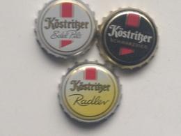 Lote 3 Chapas Kronkorken Caps Tappi Cerveza Kostritzer. Alemania - Beer