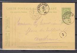 Nr 83 Op Postkaart Gestempeld Van Esschen Naar Andenne - 16 Juil 1912 - 1893-1907 Armarios