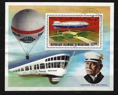 MAURETANIEN - Block Nr. 15 - 75 Jahre Zeppelin-Luftschiffe Gestempelt - Zeppelin