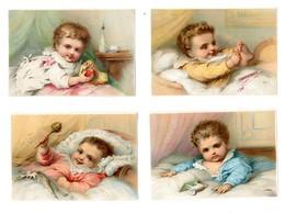 Lot 4 Chromos BOGNARD, Sorisi Bog 3-94, Bébé Jouan Dans Son Lit - Chromo