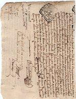VP13.309 - Cachet Généralité De LIMOGES - COGNAC - RUELLE SUR TOUVRE - Acte De 1771 à Déchiffrer - Seals Of Generality