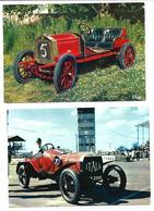Un Lot De 4 Cartes Automobiles Anciennes De Course - Vente Directe X - Motorsport