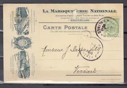 Nr 83 Op Postkaart Gestempeld Van Mechelen/Malines 1 F Naar Verviers - 20 Aug 1911 (zie Opm) - 1893-1907 Armarios