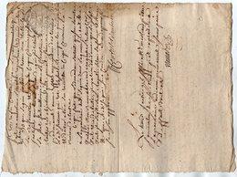 VP13.310 - Cachet Généralité De LIMOGES - RUELLE - Acte De 1774 Sentence Reformation Des Eaux & Fôrets De Cette Province - Seals Of Generality