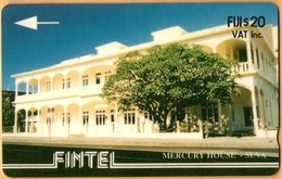 Fiji - Fintel, GPT, 4CWFC, Mercury House, Suva, 20$, 10.000ex, 1993, Used - Fiji