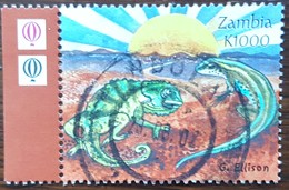 Zambie - YT N°1067 - Création / Caméléon Et Lézard - 2000 - Oblitéré - Zambie (1965-...)
