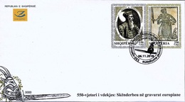 Albania Stamps 2018. The 550-th Anniversary Of Death: Skanderbeg In Gravures. FDC MNH - Albania