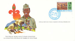 Haiti FDC Card 22-2-1982 World Scout Stamp Collection With Nice Cachet - Covers & Documents