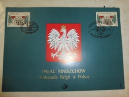 Emission Communes Pologne Belgique 1998 Sur Carte Aigle Blanc - Autres