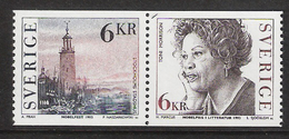 Sweden 1993 Nobel Prize Winner For Literature. City Hall, Stockholm. Toni Morrison, American Wri  Mi 1801-2 Pair MNH(**) - Schweden