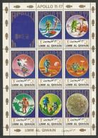 UMM AL QIWAIN - MNH - Space - Apollo 11-17 - Space