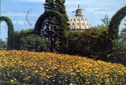 Città Del Vaticano - La Cupola Di S.pietro Dai Giardini Vaticani - Formato Grande Viaggiata – E 8 - Vatican