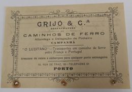 PORTUGAL  DESPACHANTE GRIJÓ E COMP. - Portugal