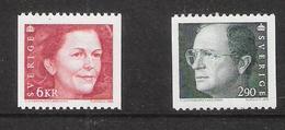 Sweden 1993 King Carl XVI. Gustaf And Queen Silvia Mi 1754-1755   MNH(**) - Schweden