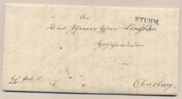 Deutschland - 1845 - Complete Folded Letter From STUHM To Chrisburg - Deutschland