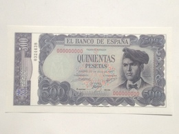 Billete 500 Pesetas. 1971. España. Facsimil. Sin Serie. Sin Circular. Jacinto Verdaguer - [ 3] 1936-1975: Regime Van Franco