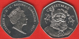 "Gibraltar 50 Pence 2017 ""Christmas 2017"" UNC - Gibraltar"