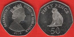 """Gibraltar 50 Pence 2016 """"3rd Portrait, Monkey"""" UNC - Gibraltar"""