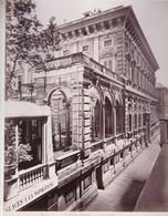 GENOVA.PALAZZO TURSI, MUNICIPIO. VAN LINT ENRICO PHOTOGRAPHIE ALBUMINEE CIRCA 1868 ALBUMINA SIZE 34x25cm-BLEUP - Photographs
