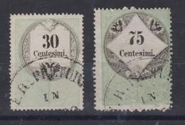 ITALIE Lombardo-Vénétie 1850: Timbres Fiscaux-postaux Y&T 4 Et 6, Oblitérations Fiscales - Lombardo-Vénétie