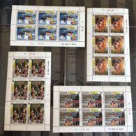 F174. 6x Tanzania - MNH - Cartoons - Mickey - Goofy - Travelers - Full Sheet - Disney