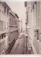 GENOVA. VIA BALBI. VAN LINT ENRICO PHOTOGRAPHIE ALBUMINEE CIRCA 1868 ALBUMINA SIZE 34x25cm-BLEUP - Fotos