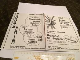 Grand Bal De Réveillon Mont Sur Marchienne Grand Spectacle De Noël Nombreux Stands Jeutire Distraction Marché Aux Puces - Advertising