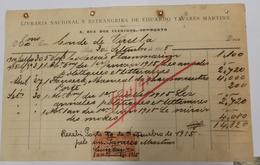 PORTUGAL  LIVRARIA NACIONAL E ESTRANGEIRA DE EDUCAÇÃO TAVARES MARTINS - Portugal