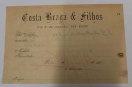 PORTUGAL  COSTA BRAGA E FILHOS RUA 31 JANEIRO 194 PORTO - Portugal
