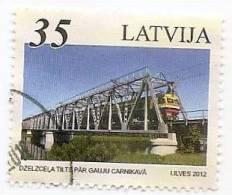Latvia 2012 Bridges And Train Of Baltic States  - Joint Issue Estonia, Lithuania Stamp Used (0) - Latvia