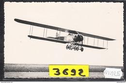 1585 AV125 AK PC CARTE PHOTO LE BIPLAN PAUL SCHMIDT PILOTE PAR GARAIX PHOT. S.A.F.A.R.A. NC TTB - ....-1914: Precursori