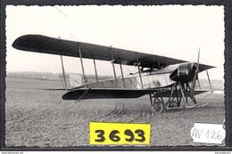 1586 AV126 AK PC CARTE PHOTO LE BIPLAN PAUL SCHMIDT PILOTE PAR GARAIX 1914 PHOT. S.A.F.A.R.A. NC TTB - ....-1914: Precursori