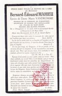 DP Schepen Bernard E. Mahieu ° Ploegsteert Komen-Waasten 1859 † Mouscron Moeskroen 1924 X M. VanDromme - Images Religieuses