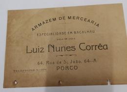 PORTUGAL  ARMAZEM DE MERCEARIA ESPECIALIDADE EM BACALHAU RUA SAO JOÃO 64 - Portugal