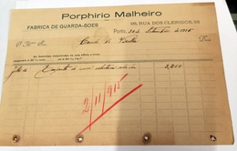PORTUGAL  FABRICA DE GUARDA SOES RUA DOS CLERIGOS 98 PORTO - Portugal