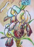 Cpa FLEURS IRIS MULTICOLORES Et Paillettes , 1905 , IRISES FLOWERS Early Pc - Flowers