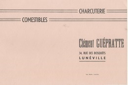 BUVARD  - Blotter -  Charcuterie Clément Guépratte , 30 Rue Des Bosquets - LUNEVILLE - Buvards, Protège-cahiers Illustrés