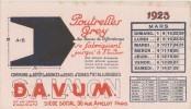 Buvard Calendrier Mars 1925 - DAVUM SALMON - Poutrelles GREY Des Usines Métallurgiques De DIFFERDANGE - Buvards, Protège-cahiers Illustrés